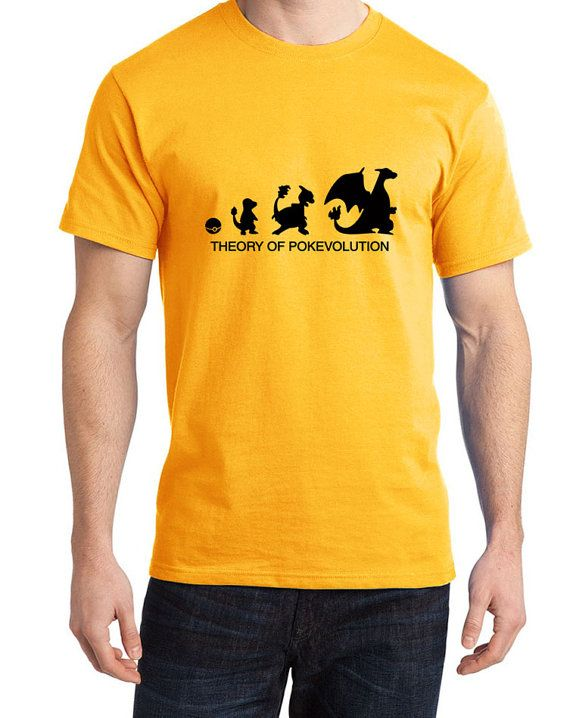 0d51e2b5 This is an Awesome Pokemon inspired T-shirt Theory of Evolution Charmander,  Charmeleon and Charizard Please see the size chart to choose your own