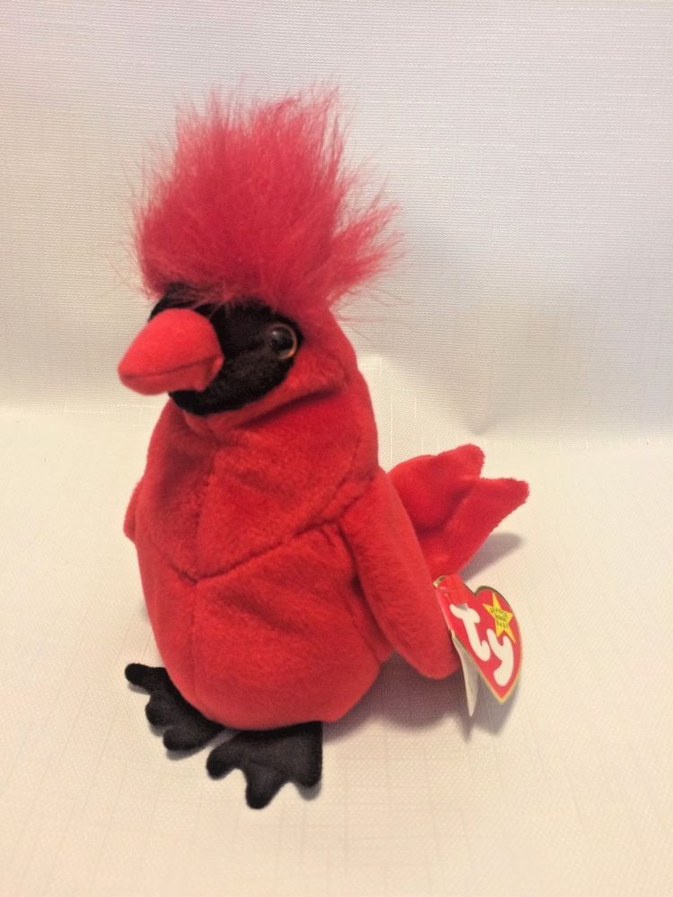3881fed669d NWT RARE  Mac  Cardinal Beanie Baby w  all Errors   Specialities  TY