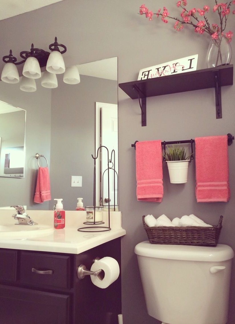 20 Beautiful Decorated Bathroom Ideas Get Ideas Girl Bathroom Decor Coral Bathroom Decor Bathroom Decor