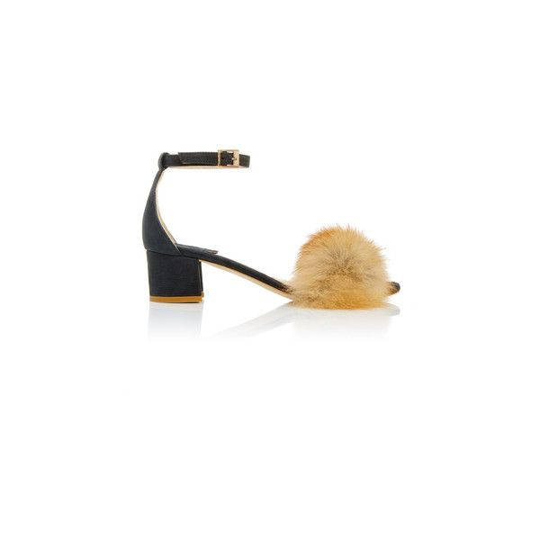 Brother Vellies Black Dhara Sandal (2.635 BRL) ❤ liked on Polyvore featuring shoes, sandals, black sandals, kohl shoes, black shoes, black block heel sandals and fox shoes
