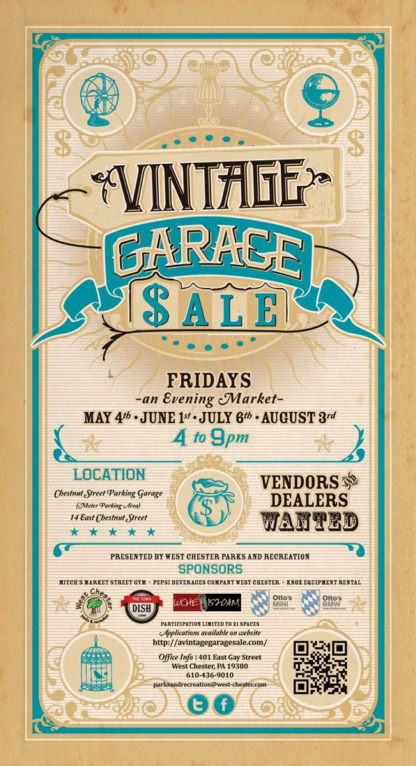 The Final Vintage Garage Sale Of The Summer Tonight Typography - Bmw signs for sale