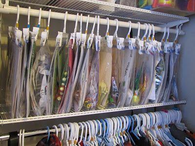 Organize Ziploc Bags