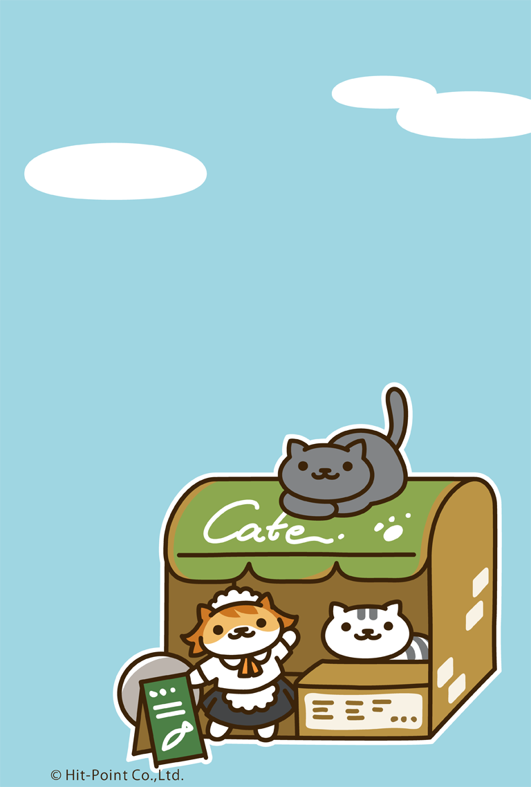 Neko Atsume Cafe San & friends wallpaper Neko atsume