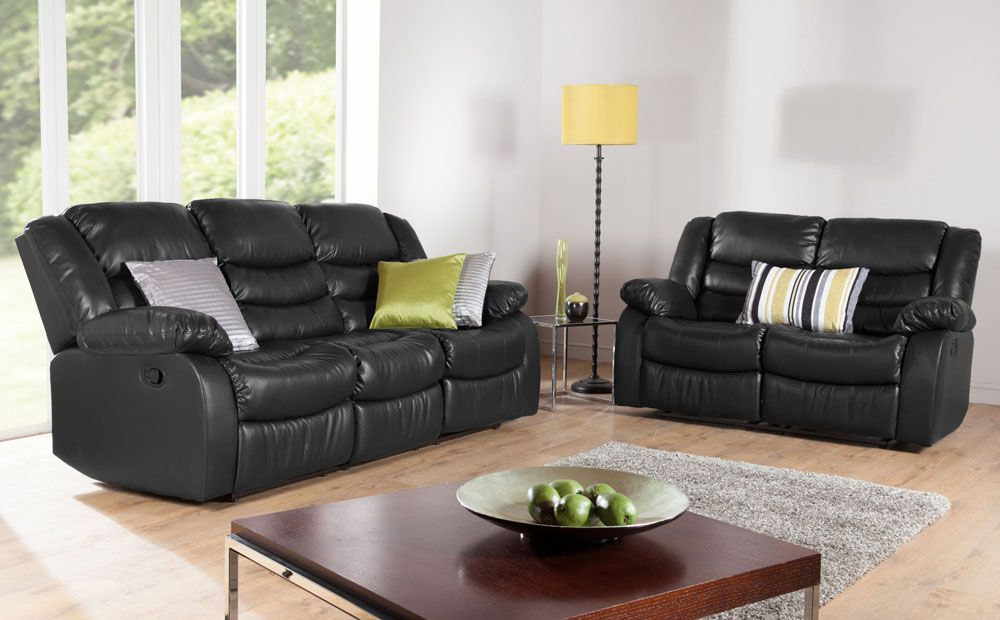 Sorrento Black Leather 3 2 Seater Recliner Sofa Set Furniture Choice Brown Living Room Decor Brown Sofa Living Room Reclining Sofa