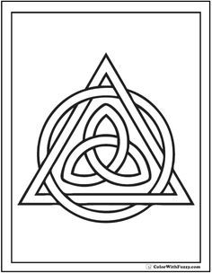 Celtic Triangle Coloring Page Trinity Knot And Circle Coloring