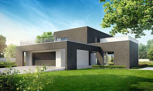 projekty domów z płaskim dachem