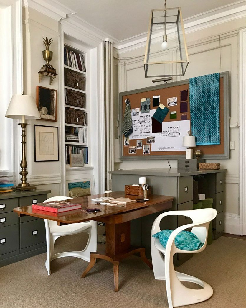 Designer Kevin Isbellu0027s New York Office With Ballard Designs Original Home  Office Collection