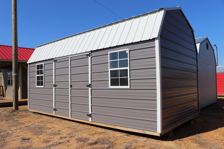 Metal Side Lofted Barn Portable Buildings Pool Shed Backyard