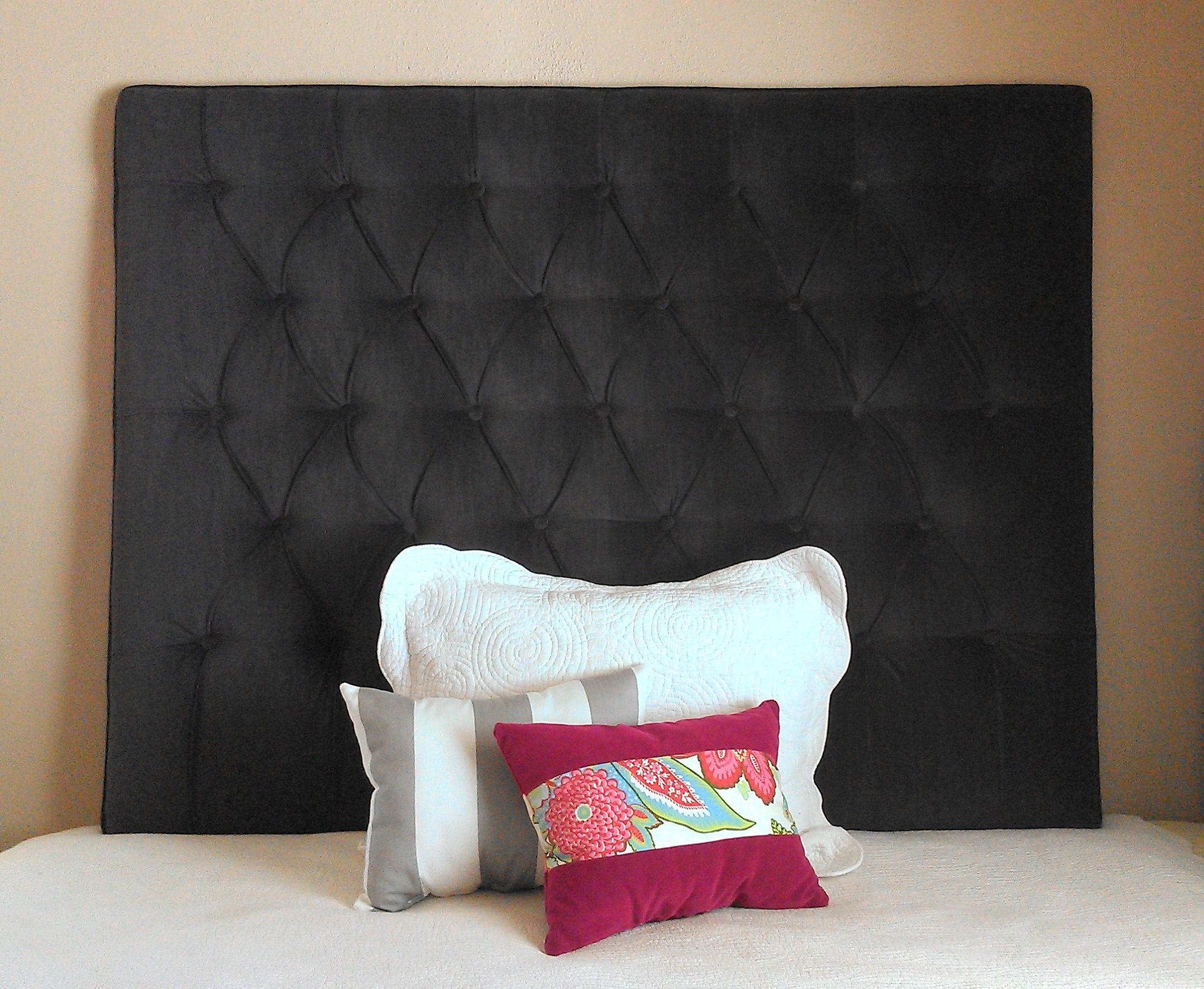 Uncategorized Headboard Wall Mounted queen sized tufted upholstered gray velvet custom wall mounted extra tall headboard