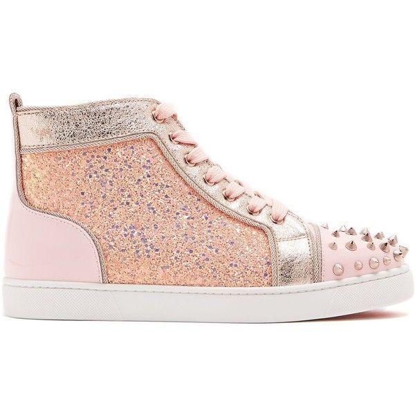 Pink Lou Degra Leather Sneakers Christian Louboutin b6Sen53e