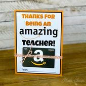 Amazon Gift Card Teacher Gift Printable Card Holder  Mama Cheaps  Better to Give Amazon Gift Card Teacher Gift Printable Card Holder  Mama Cheaps  Better to Give