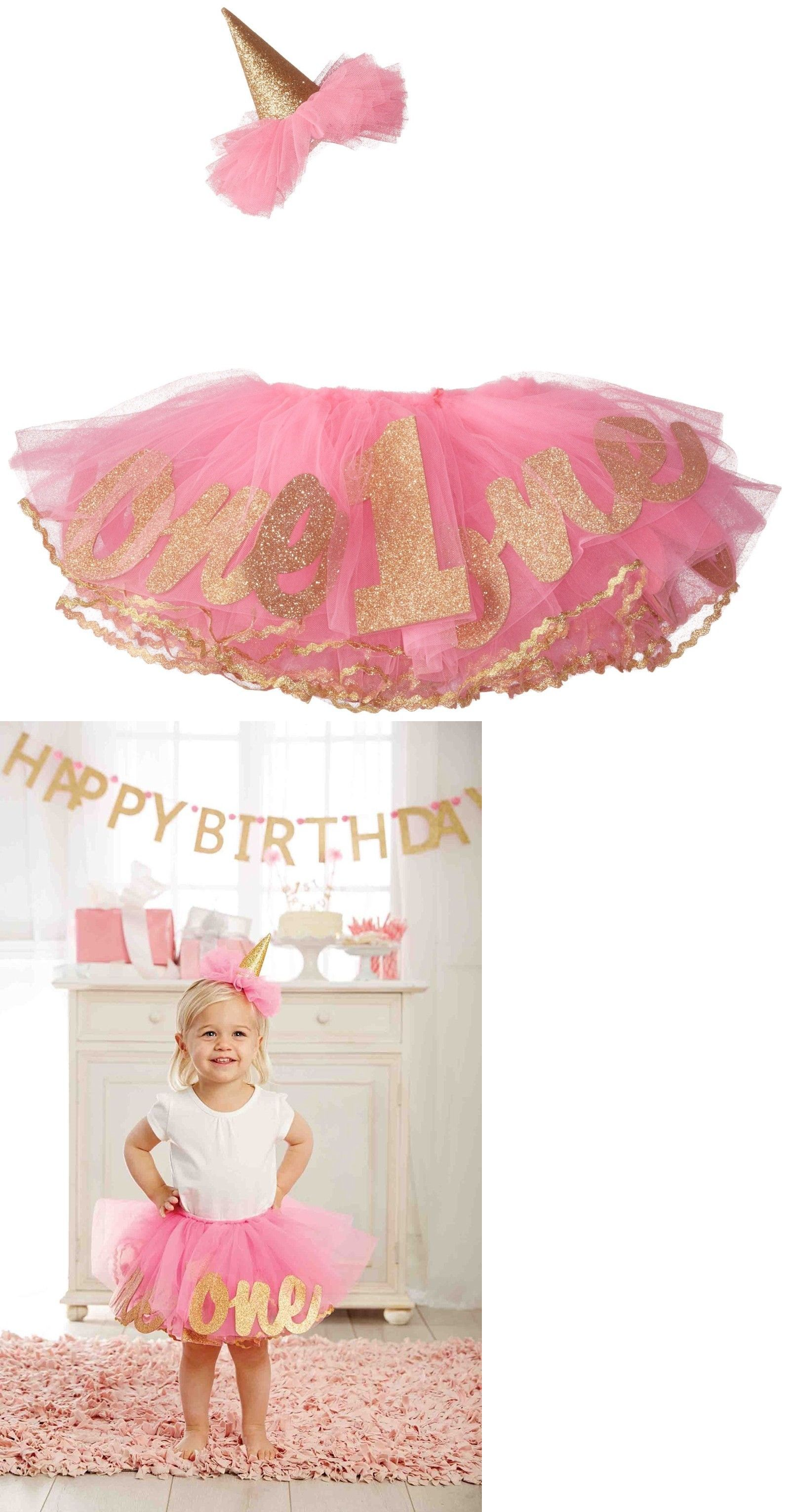 Outfits And Sets 147211 Mud Pie Baby Girl S Birthday Tutu One Party Hat