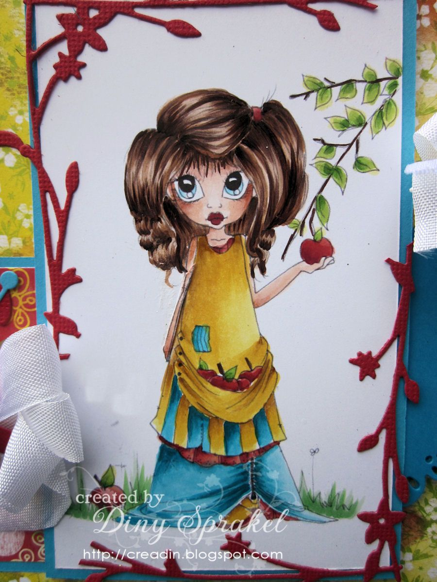 Copic Recipe Skin E11, E00, E000, E0000 Her E59, E35, E33, E31, E50 Yellow Y13, Y15, YR23, Y26 Blue BG000, BG01, BG05, BG09 Red R12, R14, R24, E07 Grass G12, 14  She does a really nice job coloring - especially the hair