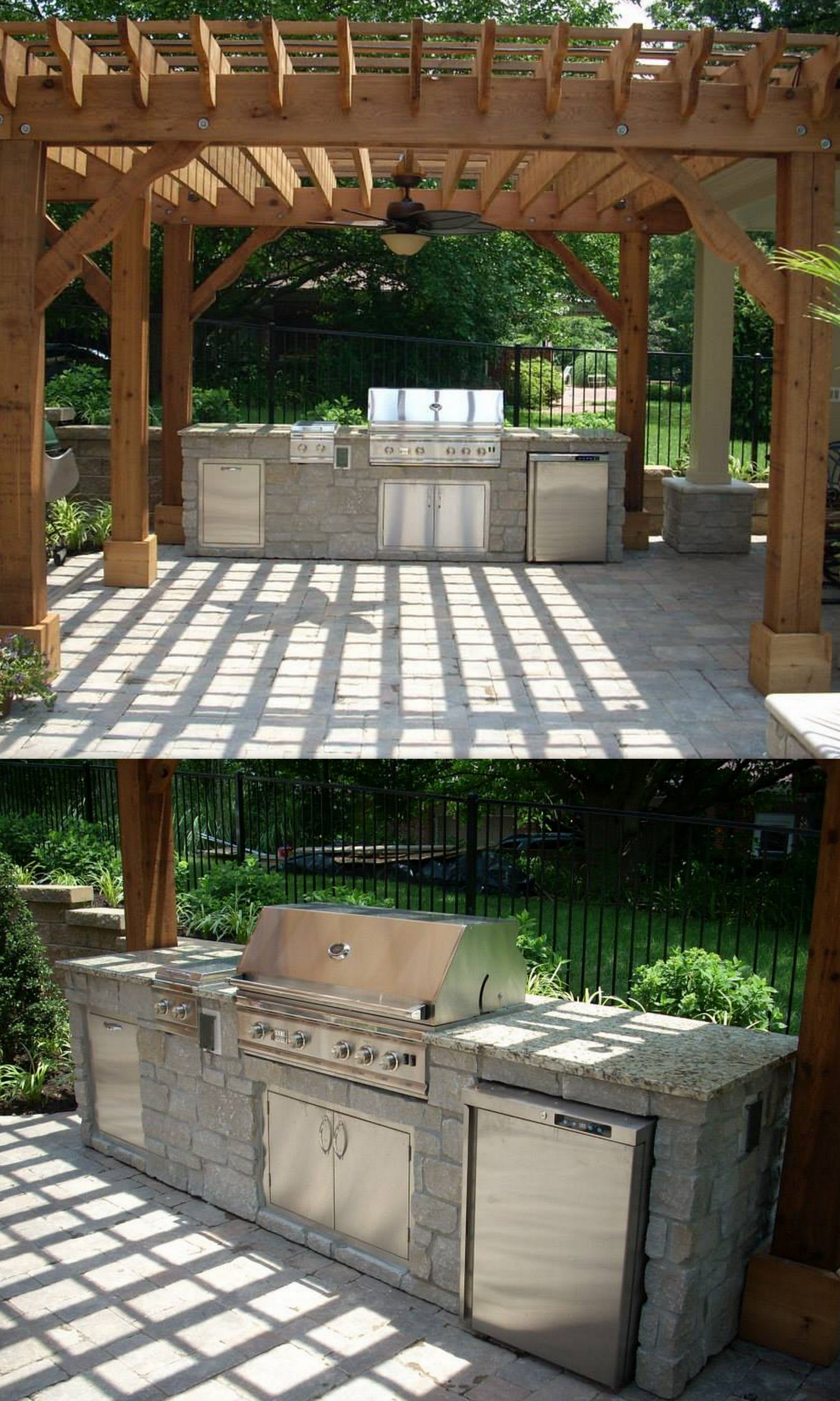 Outdoor Kitchen Under A Pergola On A Sunny Day Looks Like Heaven On Earth