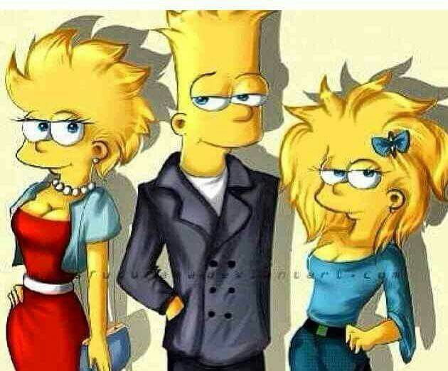 photo nake Bart Simpson & Lisa