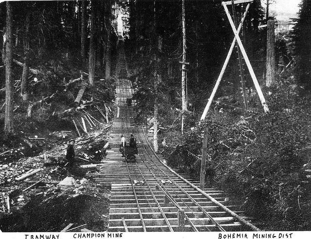 Champion Mine Tramway Cottage Grove Oregon Cottage Grove Old Time Photos