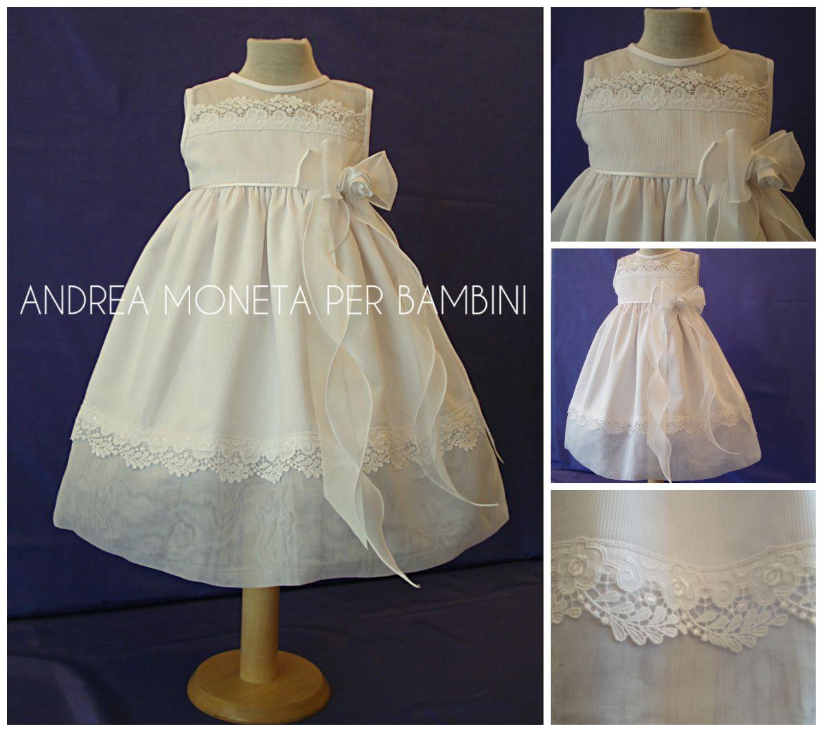 Vestido Blanco de Pique y Organza para Fiesta o Bautizo Bebé y Niña    Baby  Dress for Baptism or Party www.andreamoneta.wix.com perbambini Venezuela ... 44e80fb35c7