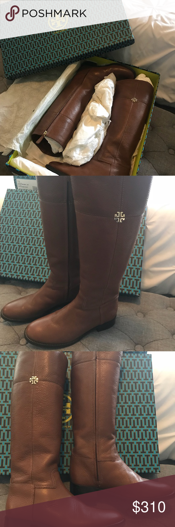 e60fbc2a6b06 Tory Burch Jolie riding boots. Size 6.5 Beautiful rustic brown Tory Burch  riding boots in excellent condition. Used once and I really love them but  the calf ...