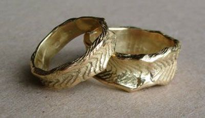 byron bay jeweller artist zo phreo handcrafts these wedding rings from a cuttlefish mold - Old Wedding Rings