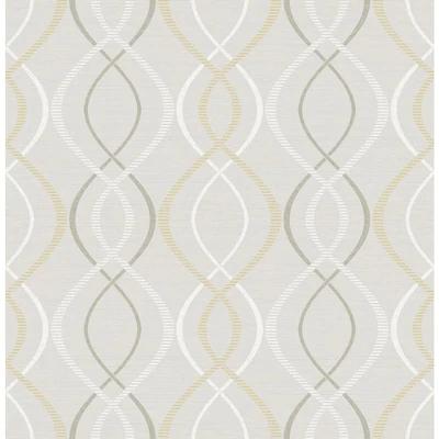 Scott Living 30 75 Sq Ft Yellow Taupe Vinyl Geometric Self Adhesive Peel And Stick Wallpaper Lowes Com In 2020 Peel And Stick Wallpaper Self Adhesive Wallpaper Geometric
