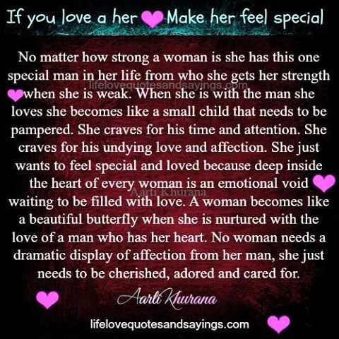 How to make a woman feel loved and cherished