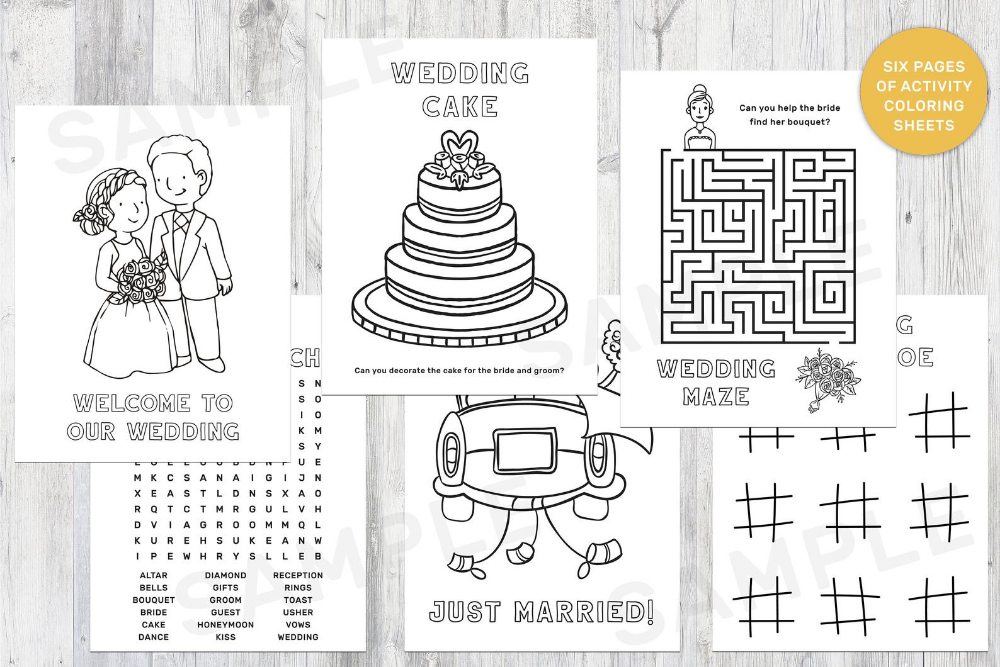 Wedding Activity Pack For Kids - Coloring Book - Children Activities Book -  Welcome To Our Wedding For Kids- DIGITAL DOWNLOAD - DIY Coloring For Kids,  Business For Kids, Kids Coloring Book