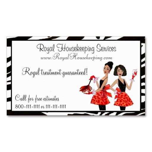 House Cleaning Diva Business Cards | Zazzle.com | Cleaning ...