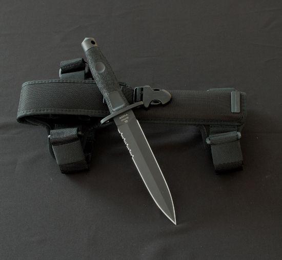 Extrema Ratio knives, combat knife. Adra operativo. Black finish MIL-C-13 924.