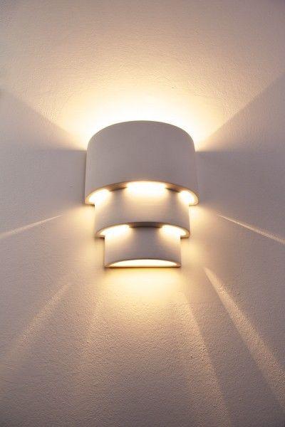 Applique Design Moderne Lampe de corridor Lampe murale Spot Plâtre