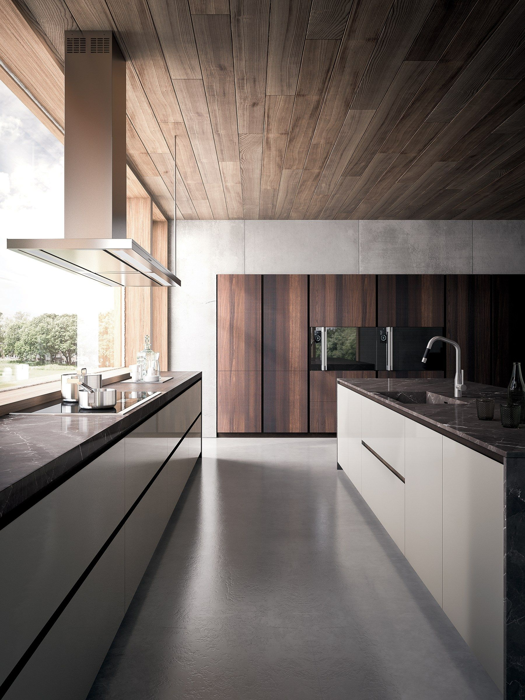 Velvet Elite By Gd Arredamenti Lacquered Wood Veneer Kitchen Contemporary Collection Modern Kitchen Design Modern Kitchen Interior Design Kitchen
