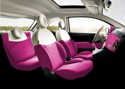 Barbie gets her own special Fiat 500 for her 50th birthday - interior