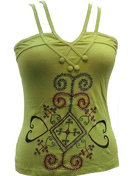 Up Close And Personal Soft To The Touch Embroidered Tank Top