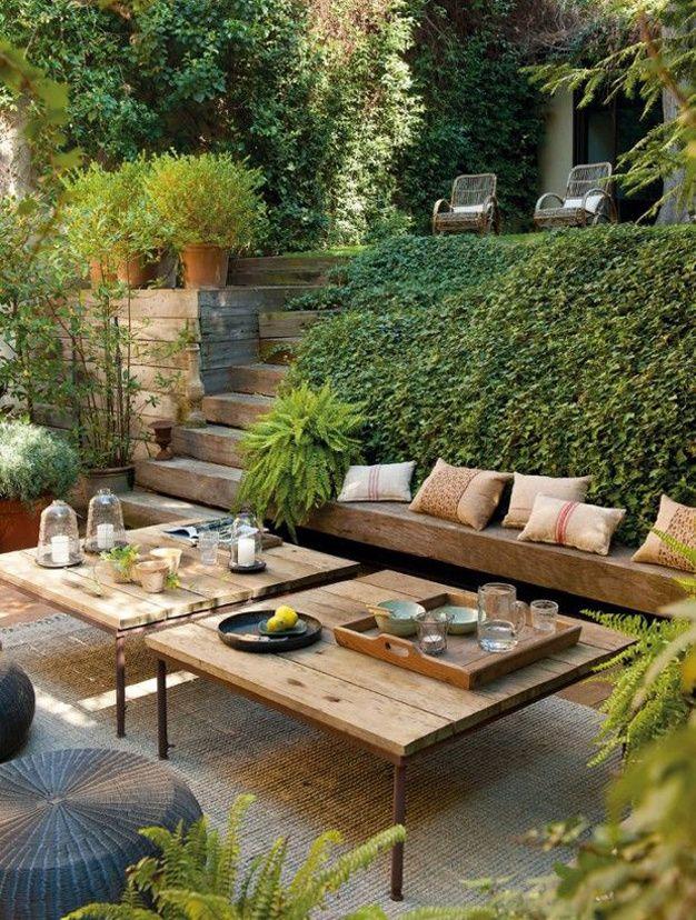 Gartentisch holz metall selber bauen  Inspirations Terrasse | zu Hause, Urlaub und Häuschen