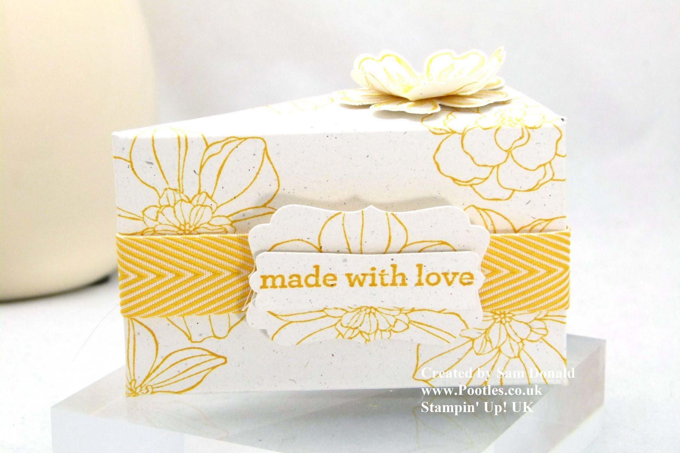 Stampin Up Uk Cake Slice Box Imperial Tutorial Gift Box Punch Board Cake Slice Boxes Stampin Up