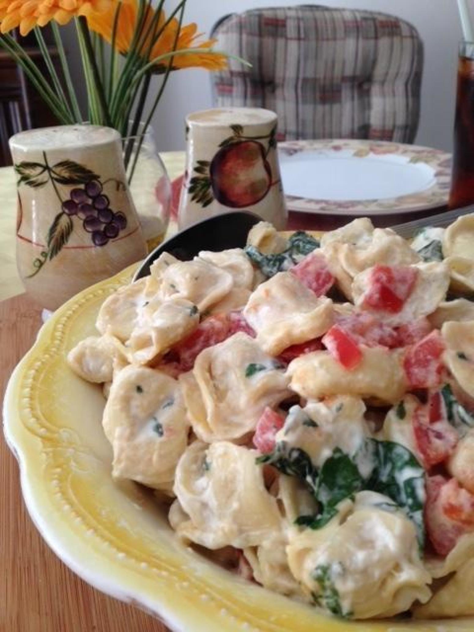 Creamy tortellini florentine recipe tortellini how to