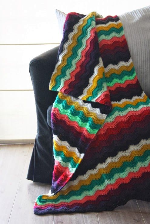 Ripple stitch blanket