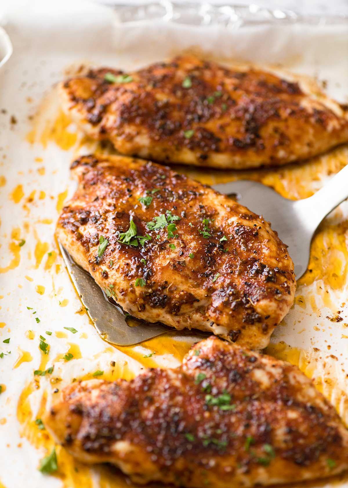 Oven baked chicken breast receta almuerzos comida y recetas forumfinder Gallery