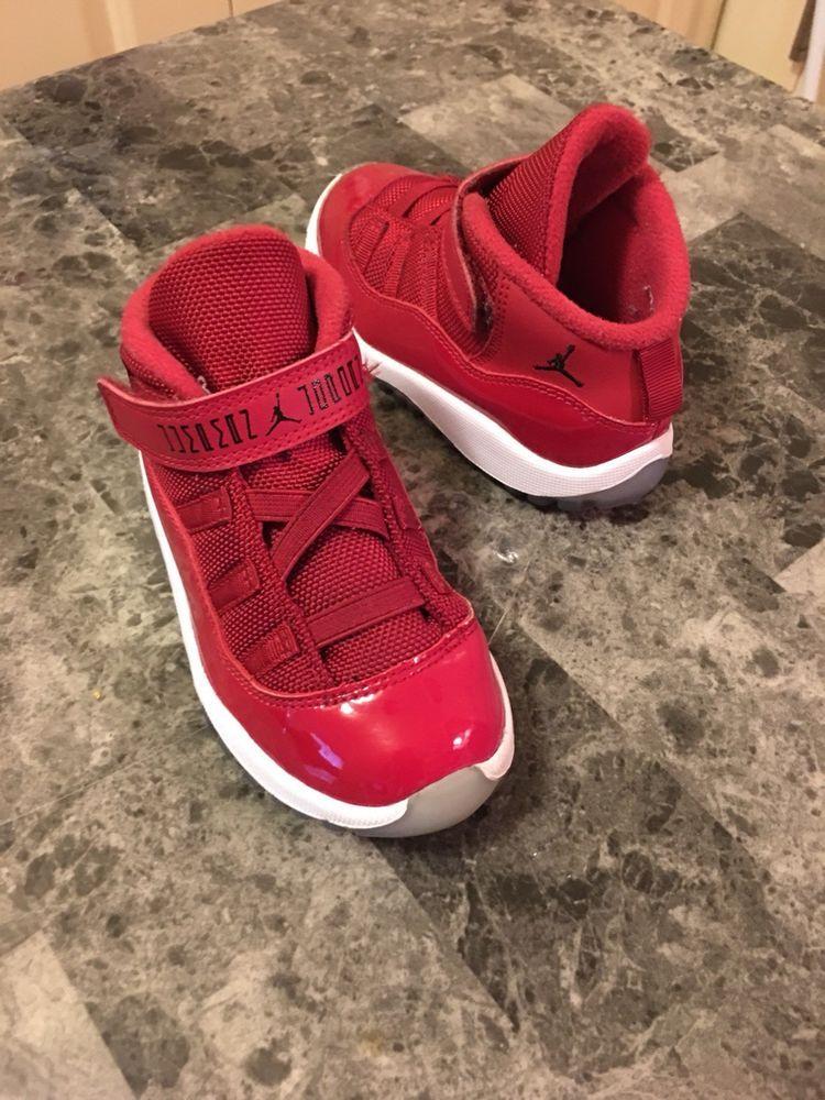 the latest e8ff1 04e14 Toddler Air Jordan 11 Retro Gym Red Size 9C Win Like 96 ...
