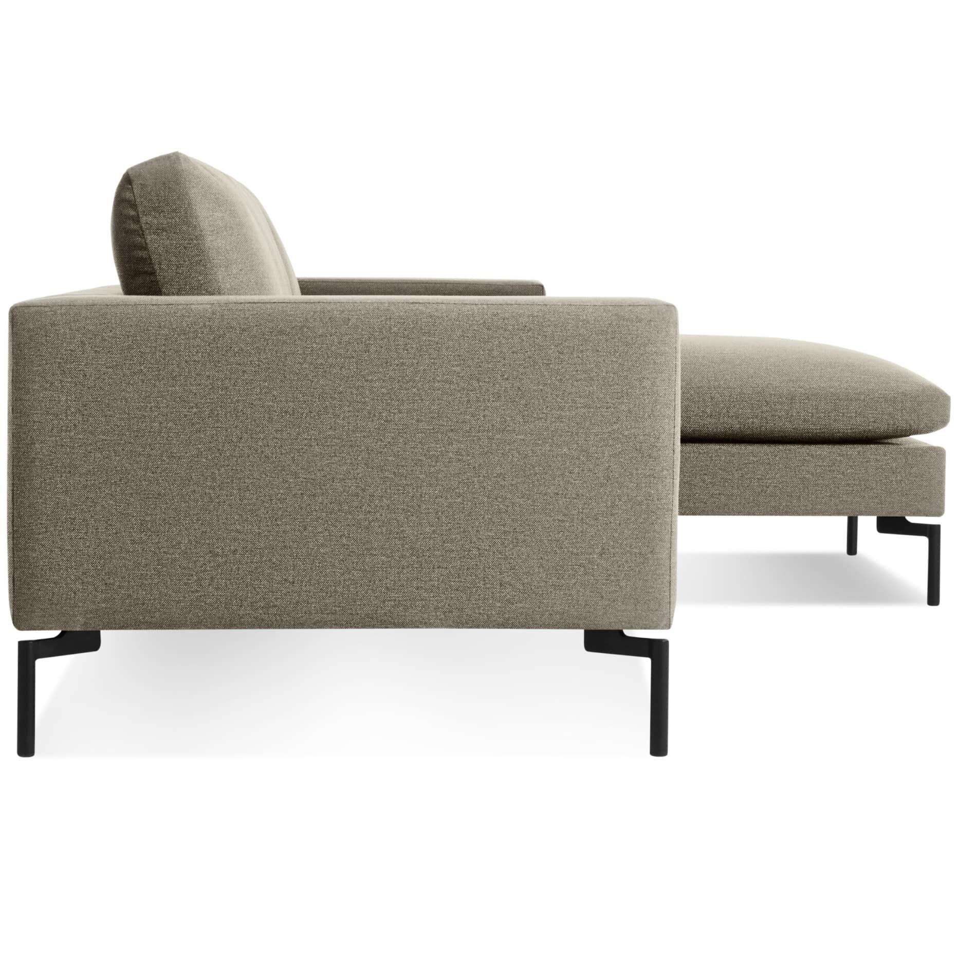 The New Standard Sofa W Right Arm Chaise Nixon Blue White Fabric Sofa Sofa Sectional Sofa