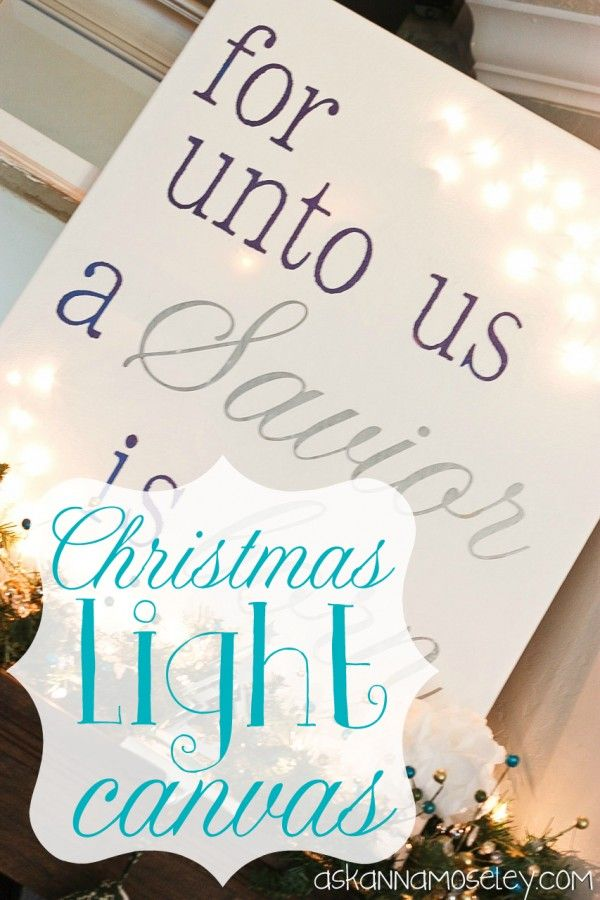 Light Up Christmas Canvas - Ask Anna