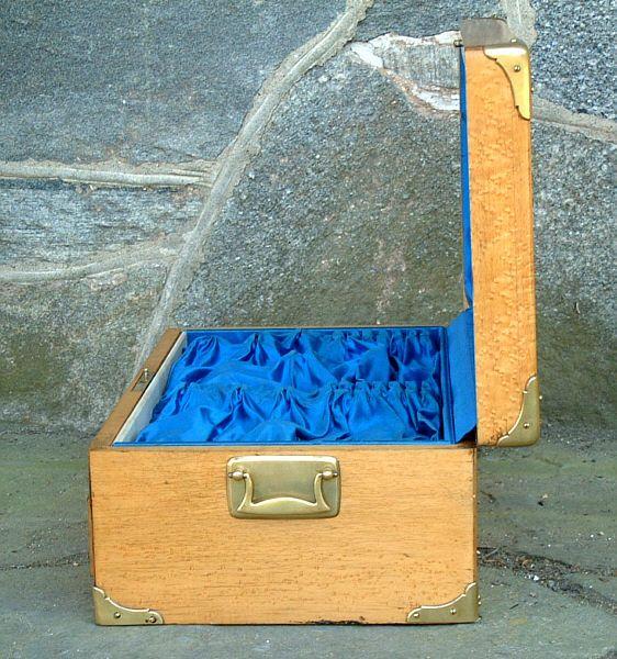 Antique Birdseye Maple Silver Storage Chest