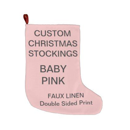 Custom Large BABY PINK Christmas Stocking | Pink christmas