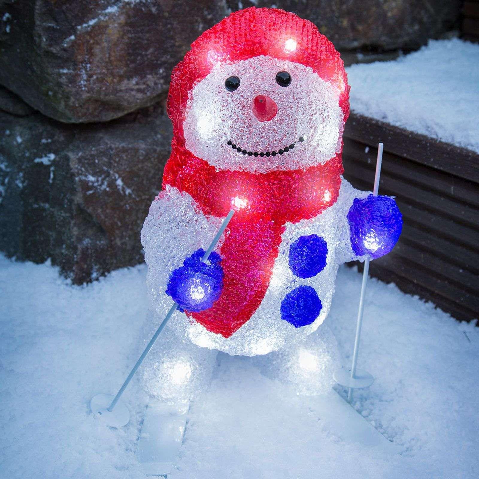 Lampe d'ext LED bonhomme de neige sur skis de Konstmide CHRISTMAS #weihnachtsdekohauseingangaussen