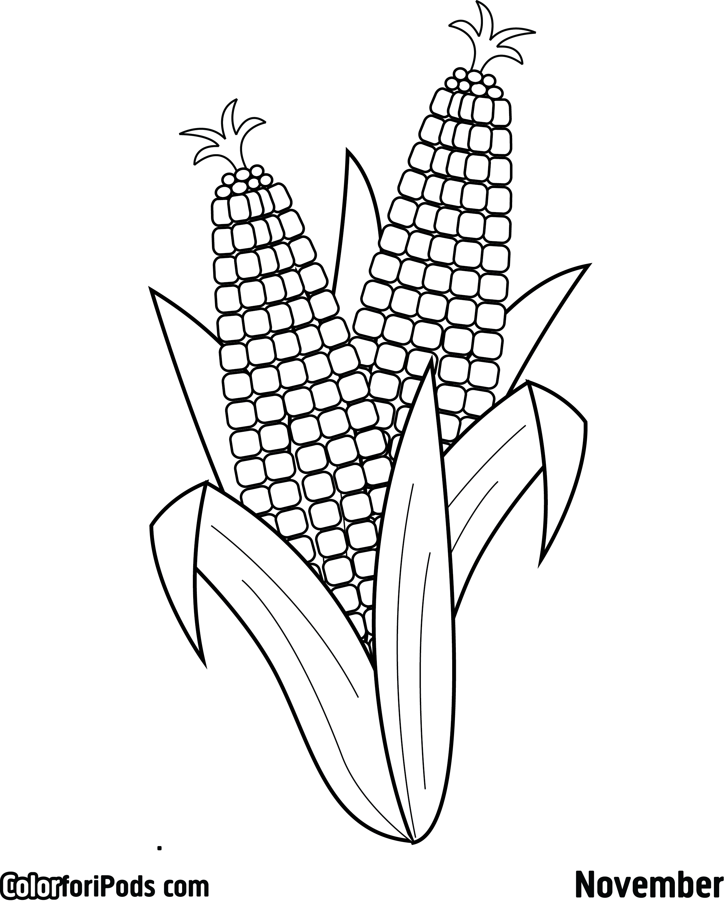 Ears Of Corn Coloring Pages Valentines Day Coloring Page Coloring Pages Coloring Sheets