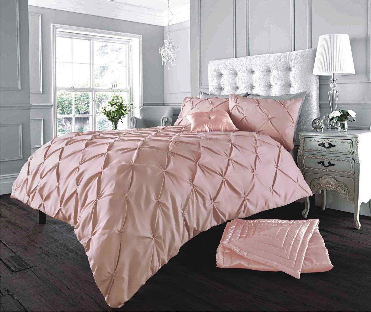 Stylish Alford Soft Pink Duvet Quilt Cover Set Duvet Bedding Duvet Cover Sets Bed Duvet Covers