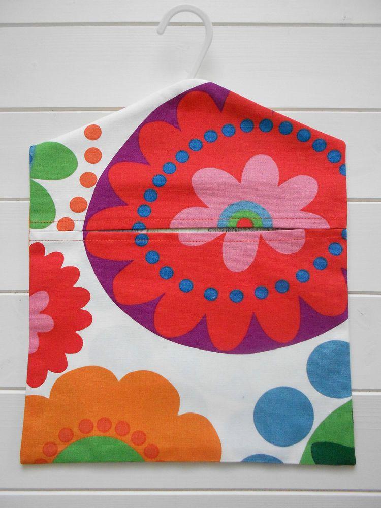Handmade Multi Coloured Peg Bag in Ikea FREDRIKA Fabric | Idees ...
