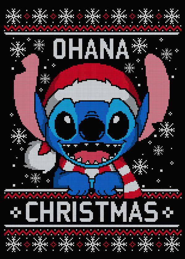 Ohana Christmas Means Family Ohana Christmas Means Family Gallery Quality Print On T Cute Christmas Wallpaper Wallpaper Iphone Christmas Cute Disney Wallpaper