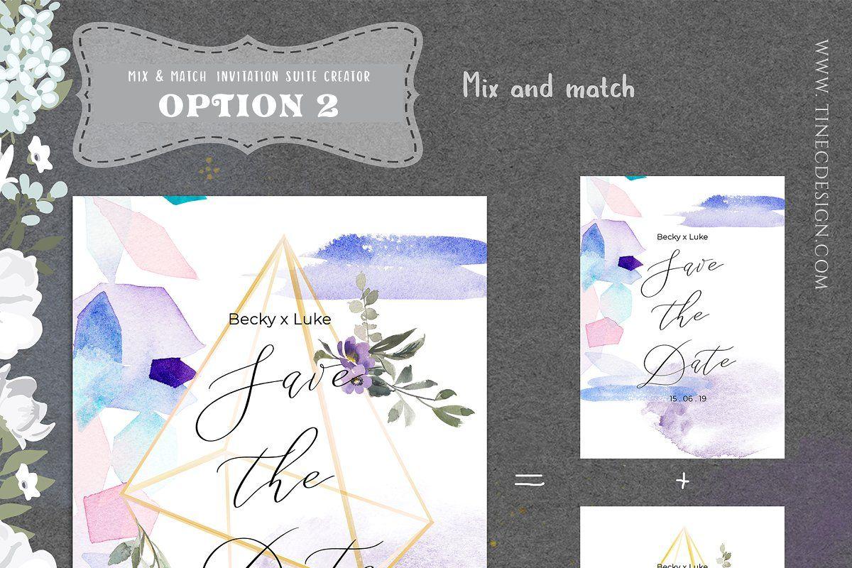 mix  match invitation suite creator  wedding invitation