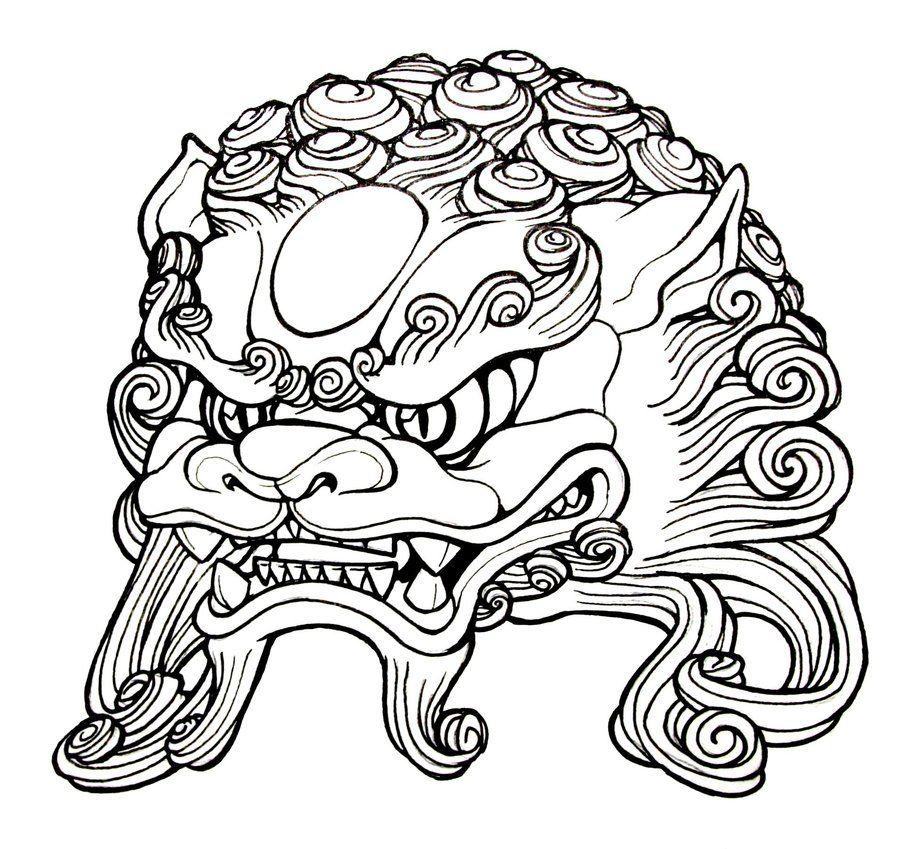 Japanese Foo Dog Tattoo Designs Sketch Template Foo Dog Tattoo Foo Dog Tattoo Design Dog Tattoos