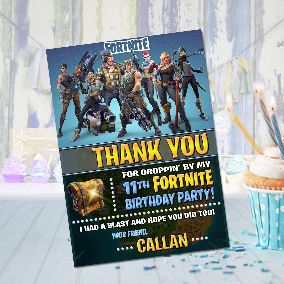 Fortnite Thank You With Images Thank You Cards Custom Thank